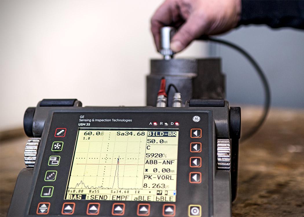 Messgerät zur Qualitätssicherung bei L+S Präzisionsguß GmbH