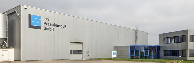 Das Firmengebäude der Gießerei von außen